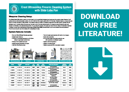Crest ultrasonic gun cleaning literature